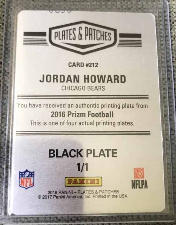 jordan howard 1/1 print plate