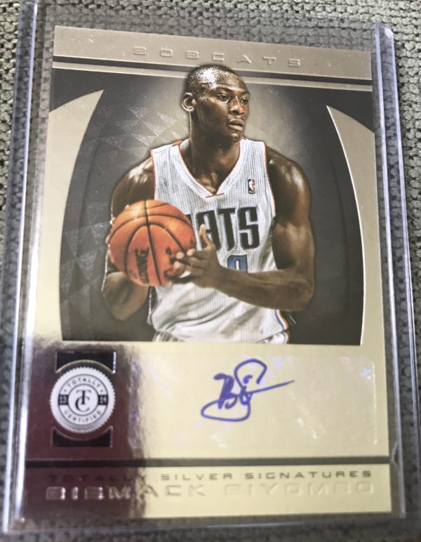 2013-14 bismack biyombo totally certified autograph