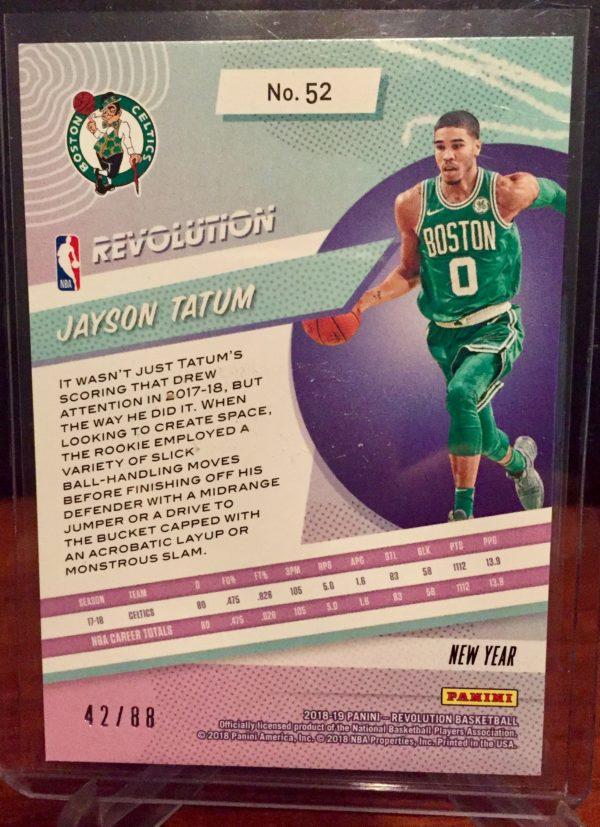 jayson tatum 2018-19 revolution chinese new year emerald parallel /88