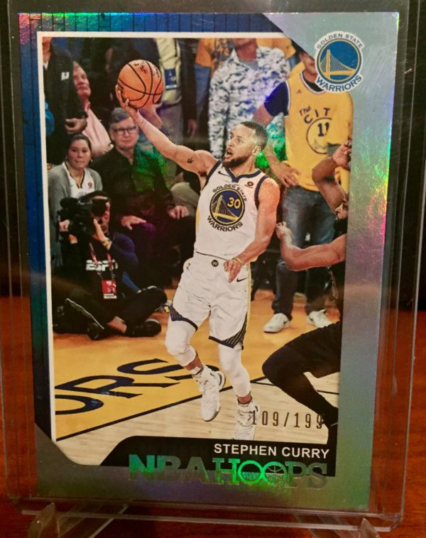 stephen steph curry 2018-19 hoops base parallel